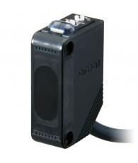 Fotoelektromos érzékelő, tárgyreflexiós, érzékelési távolság 1m, NPN-kimenet, 2m beöntött kábellel