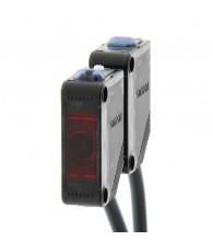 Fotoelektromos érzékelő, adó-vevős, érzékelési távolság 10m, NPN-kimenet, 2m beöntött kábellel