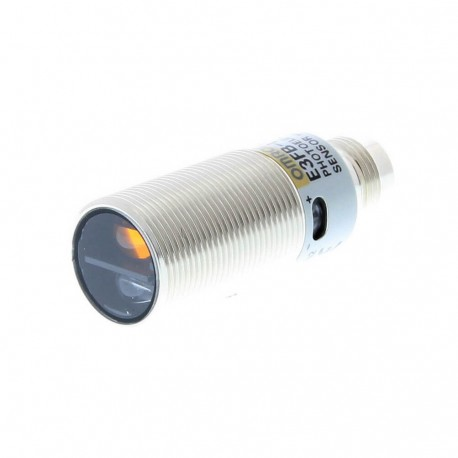 Fotoelektromos érzékelő M18-as fémházas, tárgyreflexiós, érzékelési távolság 100mm, PNP-kimenet, M12 csatlakozóval