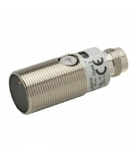 Fotoelektromos érzékelő M18-as fémházas, prizmás, érzékelési távolság 0,1-4m, PNP-kimenet, M12 csatlakozóval