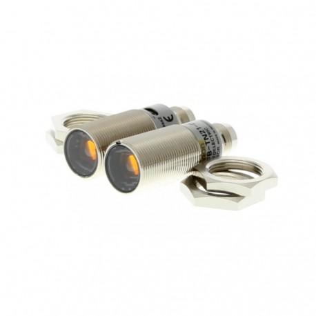 Fotoelektromos érzékelő M18-as fémházas, adó-vevős, érzékelési távolság 20mm, NPN-kimenet, M12 csatlakozóval