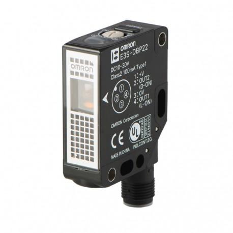 Fotoelektromos érzékelő, átlátszó tárgyakhoz, prizmás, érzékelési távolság 0,7m, PNP-kimenet, M12 csatlakozóval