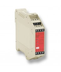 Biztonsági relé 3NO+1NC, kontaktus bemenet, kézi reset, 24VAC/DC