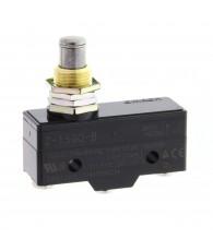 General purpose basic switch, panel mount plunger (medium OP), SPDT, 15A, screw terminals