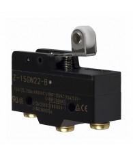 General purpose basic switch, short hinge roller lever, SPDT, 15A, screw terminals