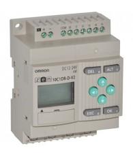 Kompakt programozható relé központi egység, kezelő gombokkal, LCD kijelzős változatban, 6 db 24 VDC PNP/NPN digitális bemenettel