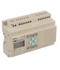 Kompakt programozható relé központi egység, kezelő gombokkal, LCD kijelzős változatban, 12 db 24 VDC PNP/NPN digitális bemenette